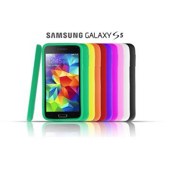 Brando zadní pogumovaný kryt pro Samsung Galaxy S5, bílý