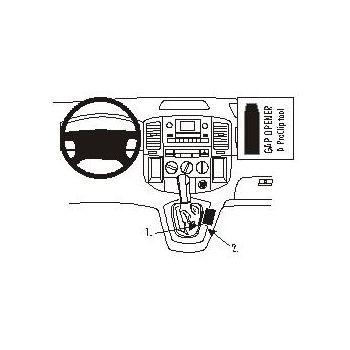 Brodit ProClip montážní konzole pro Toyota Corolla Verso 02-03, střed. tunel