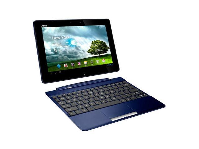 obsah balení Asus Eee Pad Transformer TF300T-1K128A 32GB - modrá + klávesnice + ASUS pouzdro HavenSleeve - hnědá