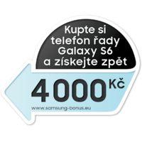 Kupte si telefon řady Galaxy S6 a získejte zpět 4000Kč!