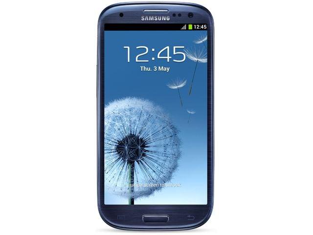 obsah balení Samsung Galaxy S III modrá + antireflexní fólie na displej Brando