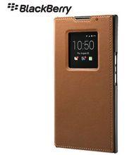 Blackberry kožené flipové pouzdro pro Blackberry Priv, hnědé