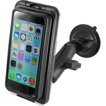 RAM Mounts Univerzální vodotěsný držák na iPhone 5, 5S, 5C do auta s extra silnou přísavkou na sklo, AQUABOX® Pro 20 i5, sestava RAM-B-166-AQ7-2-I5CU