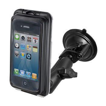 RAM Mounts Univerzální vodotěsný držák na mobil do auta s extra silnou přísavkou na sklo, AQUABOX® Pro 10, sestava RAM-B-166-AQ7-1CU