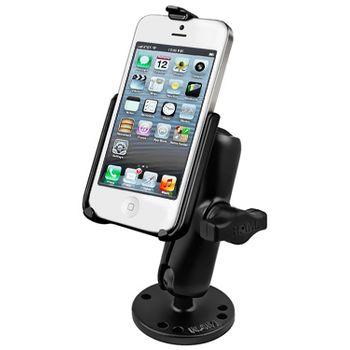 RAM Mounts držák na iPhone 5 a 5S do auta na palubní desku, bort kajaku, skútr, atd. na šroubky nebo vruty, AMPS, sestava RAM-B-138-AP11U