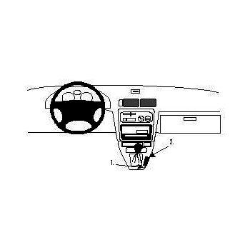 Brodit ProClip montážní konzole pro Toyota Starlet 96-98, na středový tunel