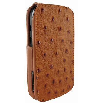 Piel Frama pouzdro pro BlackBerryQ10 iMagnum, Ostrich Tan