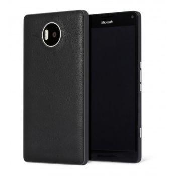Mozo kožený kryt pro bezdrátové nabíjení pro Lumia 950 XL, černý