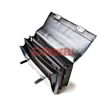Krusell luxusní brašna na notebook z černé kůže s přihrádkami na dokumenty, vn. rozměr 350x280x50mm