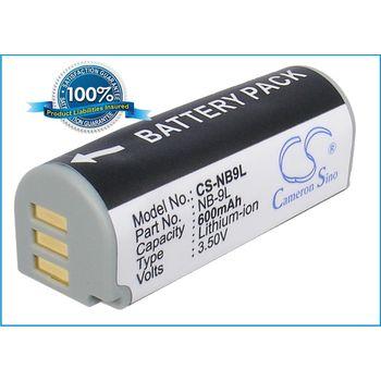 Baterie (ekv. NB-9L)  pro Canon Ixus 1000 HS, Li-ion 3,5V 600mAh