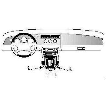 Brodit ProClip montážní konzole pro Jaguar XK8 / XKR 97-06, na střed. tunel