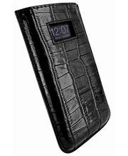 Piel Frama pouzdro pro iPhone 5 Pull Case, Crocodile Black