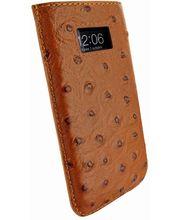 Piel Frama pouzdro pro iPhone 5 Pull Case, Ostrich Tan