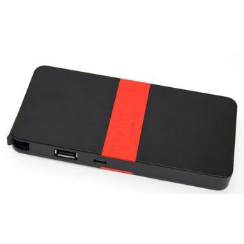 Tylt záložní baterie 5200 mAh energi 5K s microUSB konektorem, černo-červená
