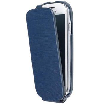 ANYMODE kožené pouzdro flap pro Samsung Galaxy S3 Mini, modré