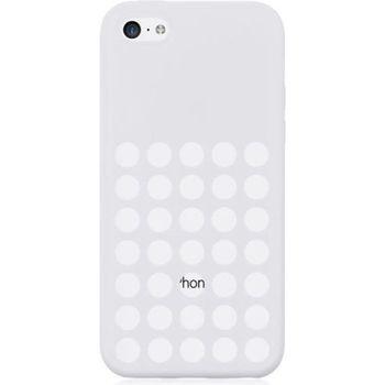 Brando zadní kryt Hole Silicone pro iPhone 5C, bílá