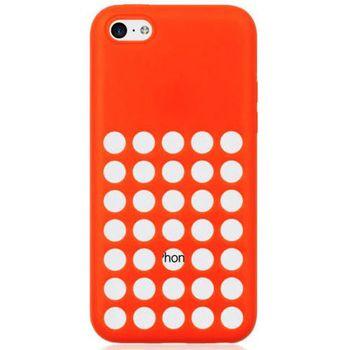 Brando zadní kryt Hole Silicone pro iPhone 5C, červená