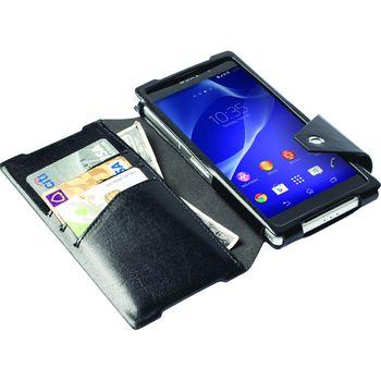 Krusell pouzdro FlipWallet Kalmar - Sony Xperia Z2, černá