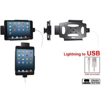 Brodit držák do auta na Apple iPad Mini bez pouzdra, s průchodkou pro kabel Light.kabel, s pojistkou