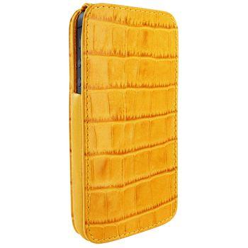 Piel Frama pouzdro pro iPhone 5 iMagnum, Crocodile Yellow