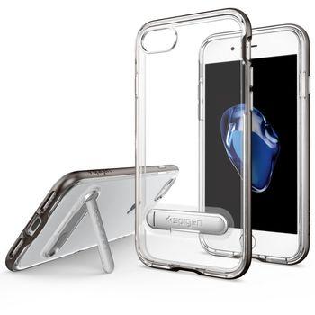 Spigen ochranný kryt Crystal Hybrid pro iPhone 7, kovově šedá