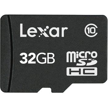 Lexar microSDHC 32GB Class 10 paměťová karta + SDHC adaptér
