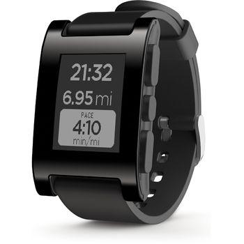 Pebble chytré hodinky, černé