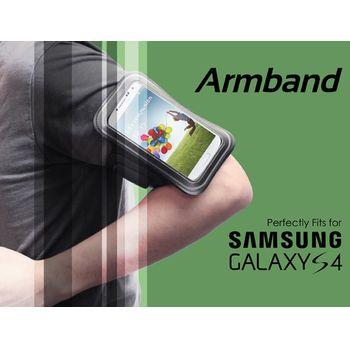 Brando sportovní pouzdro na ruku pro Samsung Galaxy S4, černé