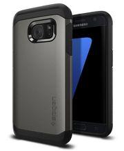Spigen pouzdro Tough Armor pro Galaxy S7 , kovově šedé
