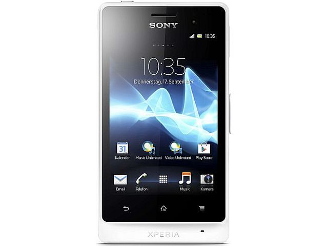 obsah balení Sony Xperia Go (ST27i) - bílá + Sony Ericsson CK100 držák s CL nabíječkou do vozu
