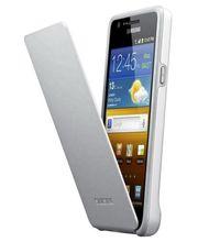 Samsung pouzdro flip EF-C1A2W pro Samsung Galaxy S II (i9100), bílá/šedá