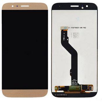 Náhradní díl Huawei Ascend G8 LCD Display + dotyková deska zlatá