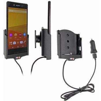 Brodit držák do auta na Sony Xperia Z3+ bez pouzdra, s nabíjením z cig. zapalovače/USB