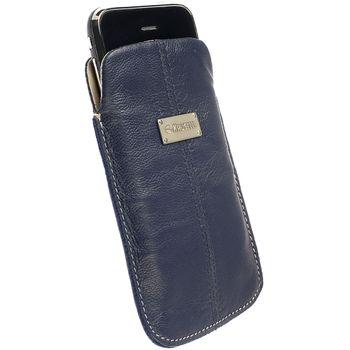 Krusell pouzdro Luna - L - Galaxy S, iPhone 4/3GS, HTC Desire/Z, Nok N8/C7/5230 116x62x12mm (modrá)