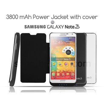 Brando pouzdro s baterií pro Samsung Galaxy Note 3, 3800mAh, černá