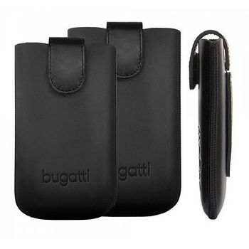 Bugatti Slim Case Leather Universal 2XL (131x78mm) - černé
