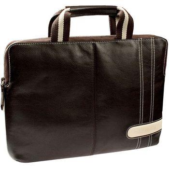 """Krusell Gaia Laptop Slim taška na notebook - do 16"""" - hnědá/krémová"""