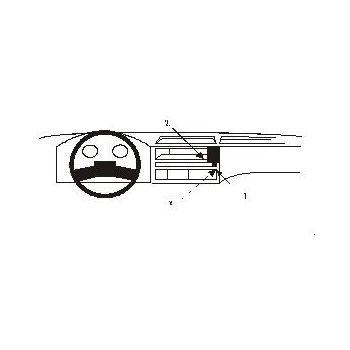 Brodit ProClip montážní konzole pro Ford Transit 86-94, na střed
