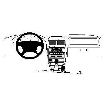 Brodit ProClip montážní konzole pro Subaru Forester 98-02, na středový tunel