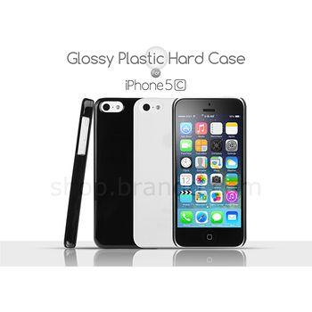 Brando zadní kryt Glossy Plastic pro iPhone 5C, černá