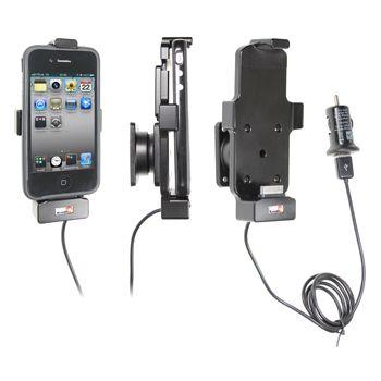 Brodit držák do auta na Apple iPhone 3/3Gs 4/4S bez pouzdra, s nabíjením z cig. zapalovače/USB