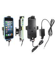 Brodit držák do auta na Apple iPhone 5/5S/5C/SE v pouzdru, s pružinou, se skrytým nabíjením