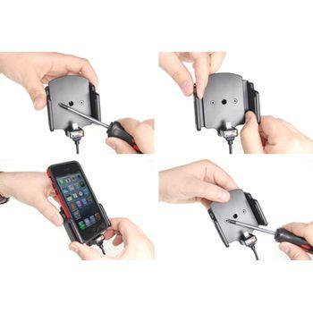 Brodit držák do auta pro iPhone 5/5S v pouzdře šíře 62-77mm, tl. pouzdra 6-10mm se skrytým nabíjením + zadní kryt Ozaki černý