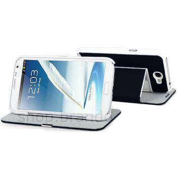 Pouzdro se stojánkem Brando Folio Flip - Samsung Galaxy Note II (černé)