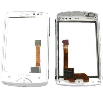 Náhradní díl dotyková deska s předním krytem pro Sony Ericsson ST15i, bílá