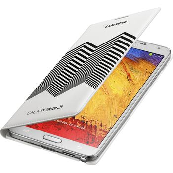Samsung flipové pouzdro s kapsou Nicolas Kirkwood EF-EN900BW pro Galaxy Note 3, bílo černé