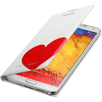 Samsung flipové pouzdro s kapsou Moschino EF-EN900BR pro Galaxy Note 3, bílo červené