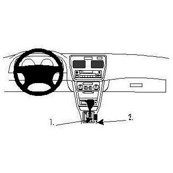 Brodit ProClip montážní konzole pro Toyota Corolla 1998 - 2002, na středový tunel