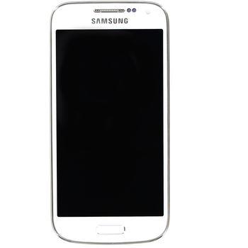 Náhradní díl LCD displej s dotykovou vrstvou a předním krytem pro Samsung i9195 Galaxy S4 Mini, bílá