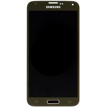 Náhradní díl LCD displej s dotykovou vrstvou pro Samsung G900 Galaxy S5, zlatá